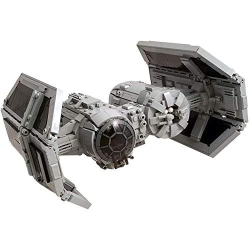 Cestbon 1494St Guerra Moc De Estrellas Tie Bombardero vehículo Enfoque Modular para Adultos, niños - No Lego,Gris