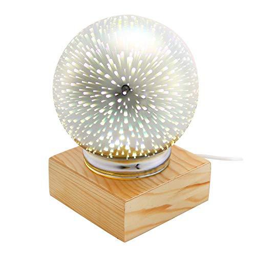 3D Glas Magisches Licht, Led Schlafzimmer Dekorative Leuchten, Nachttischlampe Nachttischlampe, Baby Tischlampe, Geeignet Für Baby Kinder Und Erwachsene
