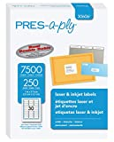 Pres-a-ply Laser Address Labels, 1 x 2.625 Inches, White, Box of 7500 (30606)