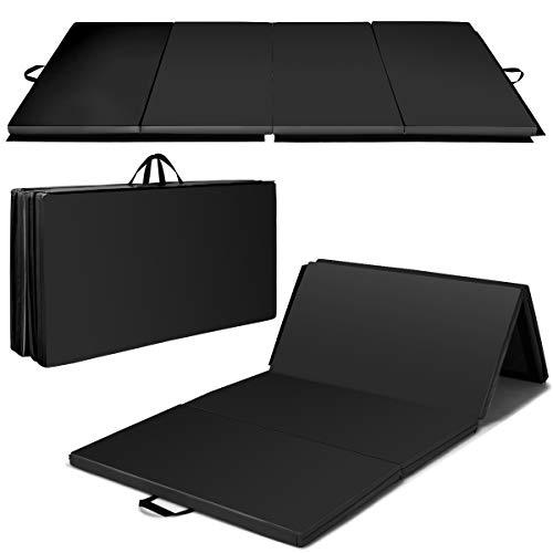 Giantex 4'x8'x2' Gymnastics Mat Folding PU Panel Gym Fitness...
