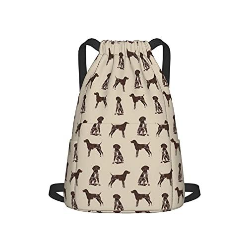 Bolsa de cordón para perros con puntero alemán para perros y mascotas