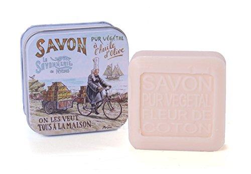 La Savonnerie de Nyons 30543 Boîte Métal Savon Bigou Breton 100 grammes, Étain, Multicolore, Taille Unique