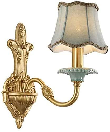 HDDD wandlamp voor aan de muur – retro wandlamp, Europese stijl, compleet van koperen doek E14, voor woonkamer, slaapkamer, veranda, studio, hotel, 1/2 kopen, decoratief licht