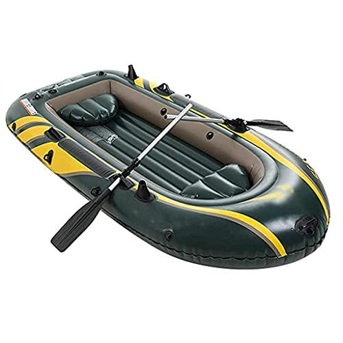 WBJLG Kayak, Kayaks de Turismo inflables con remos de Aluminio, Dos Personas, Asiento de Pesca en Kayak