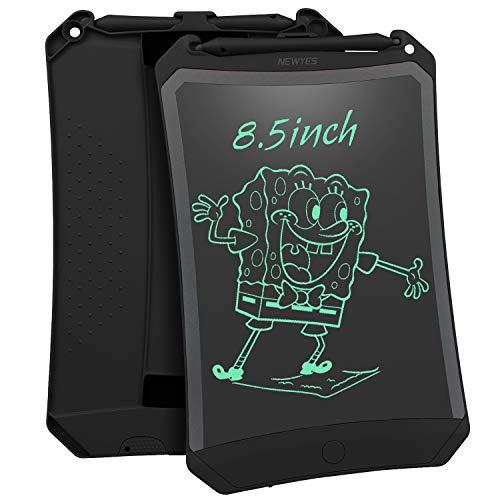 NEWYES Tableta de Escritura LCD 8,5 Pulgadas | Tablet para Dibujar para Niños. Colores Más Brillantes, Ideal como Pizarra electrónica para Aprender a Leer, Escribir y Manualidades | (Negro)