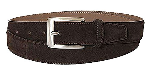 BOSS Ceinture unisex suede dark brown 40
