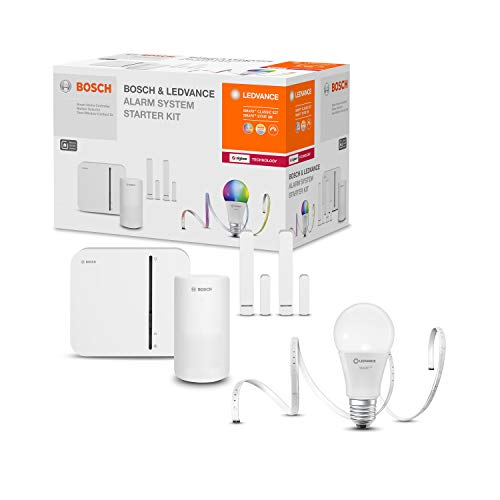LEDVANCE & BOSCH Pack exclusivo Sistema de alarma con iluminación conectada | Bosch & Levance Alarm System [Kit de inicio]