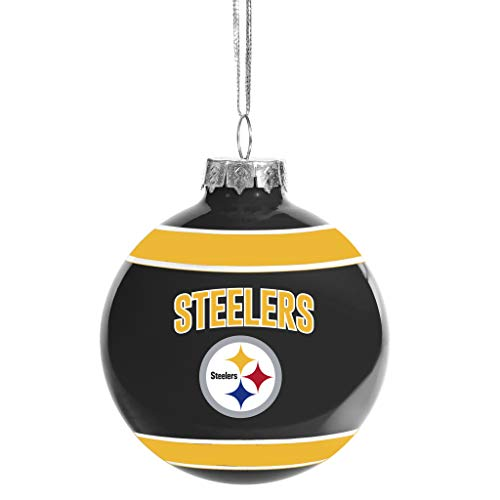 Pittsburgh Steelers Glass Ball Ornament – Limited Edition Steelers Ornament – Represent The NFL and Show Your Team Spirit with Officially Licensed Pittsburgh Football Holiday Fan Decorations