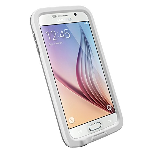 LifeProof FRĒ Samsung Galaxy S6 Waterproof Case - Retail Packaging - AVALANCHE (WHITE/GREY)