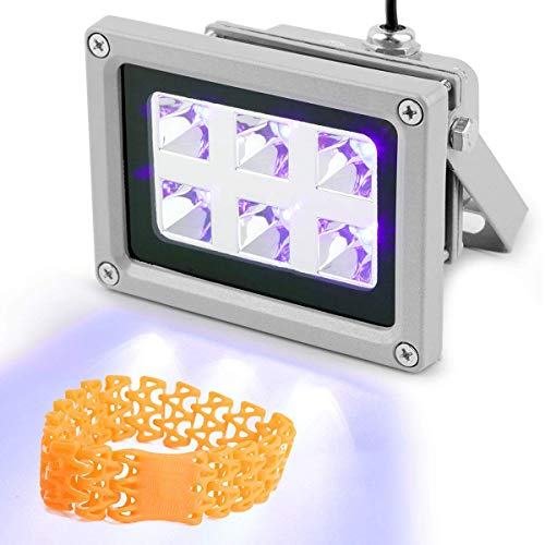 Vogvigo UV-Harzhärtungslicht das härtendes Licht 405nm UV-Harz für SLA/DLP, 3D-Druckerteile, Für UV-Härtung, photochemische Katalyse, medizinische Therapie,Handy-LCD-Bildschirm (6W)