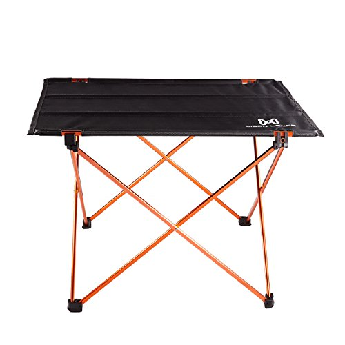MOON LENCE Ultralight Folding Camping Picnic Roll Up Table with Carrying Bag