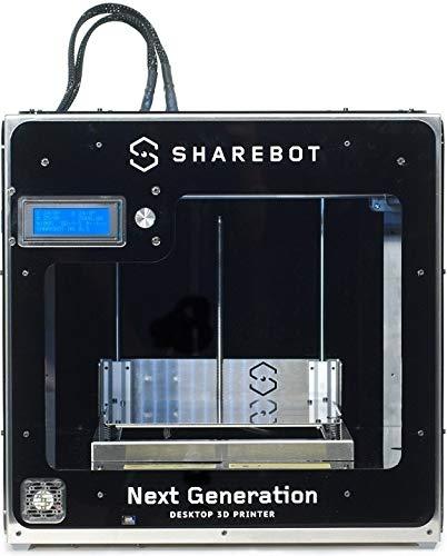 Sharebot NG Stampante 3D con 2 Estrusori Nero, Nero