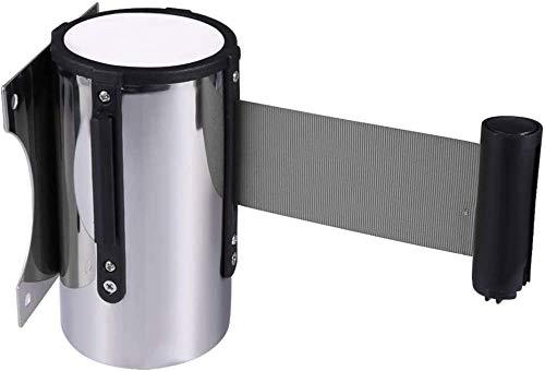 Control de multitudes Montaje en pared 5m Cinturón de barrera retráctil Cinturón telescópico de seguridad Cinturón de seguridad para multitudes Cinturón de seguridad para Bank Airport ⭐