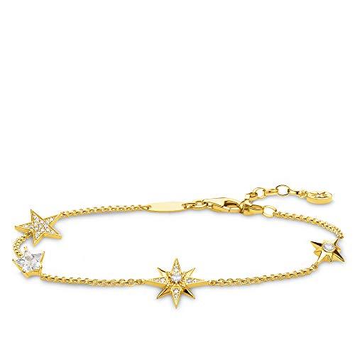 Thomas Sabo Damen-Armband Sterne gold 925 Sterlingsilber gelbgold vergoldet A1916-414-14-L19v