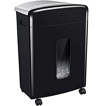 Bonsaii 16-Sheet Micro-Cut Paper and Credit Card Shredder 20 Minutes Running Time 60 dB Low Operation Noise 6.6 Gallons Basket and 4 Casters  C222-B