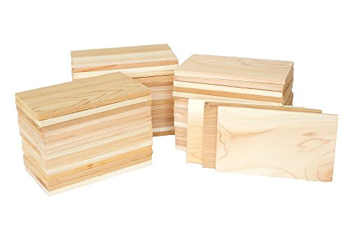 Case of 50 Small 3.5x7 Cedar Grilling Planks Plate Size - Restaurant Quantity