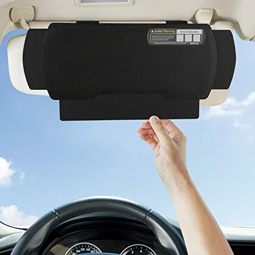 WANPOOL Car Visor Sunshade Extender, Window Shade, Anti-Glare Sun Blocker for Driver or Front Seat Passenger,1 Piece