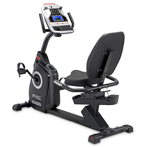 CIRCUIT FITNESS Circuit Fitness Magnetic Recumbent Exercise Bike with 15 Programs, 300-lb...