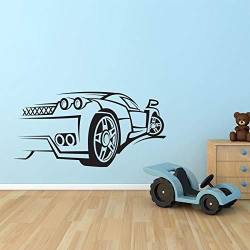 55 cm x 110 cm Sportwagen Rennen Geschwindigkeit Wandtattoo Kindergarten Vinyl Aufkleber Wandbild Kinderzimmer Dekor