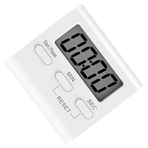 Uzinb Blanco LCD Digital de Cocina Que Cocina Temporizador de Cuenta atrás del Reloj hasta Fuerte Alarma magnética cronómetro