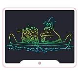 Tablette D'écriture LCD 15 Pouces Ardoises Numérique Ewriters Writing Tablet Ecriture À Dessin Électronique Tableau Jouets Cadeaux De Noël pour Enfants Garçons Filles Dessin,Rose,Colorscreen