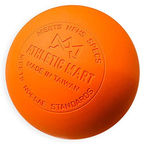 ATHLETIC MART Official Game Ball, Lacrosse Ball, NOCSAE Certified, Orange (Orange), 1 Dozen (12 Pack)