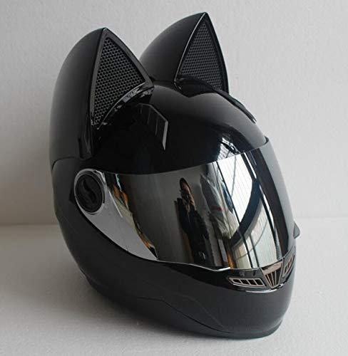 MYSdd Neue Männer und Frauen, die Sturzhelmmotorradpersönlichkeit Vier Jahreszeiten vorhandener Katzenohrsturzhelm Laufen, können als Feriengeschenk verwendet Werden - 3 XS