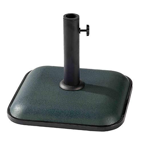 TIENDA EURASIA® Base para Sombrillas de Hormigón - Soporte de Tubo Metálico - 11 Kg - Compatible con Sombrillas de Ø 30-35-38 cm (Cuadrado 35 x 35 cm, Verde)