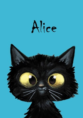 Alice - Coloring Book / Notebook / Diary - DIN A5 - cat – blank
