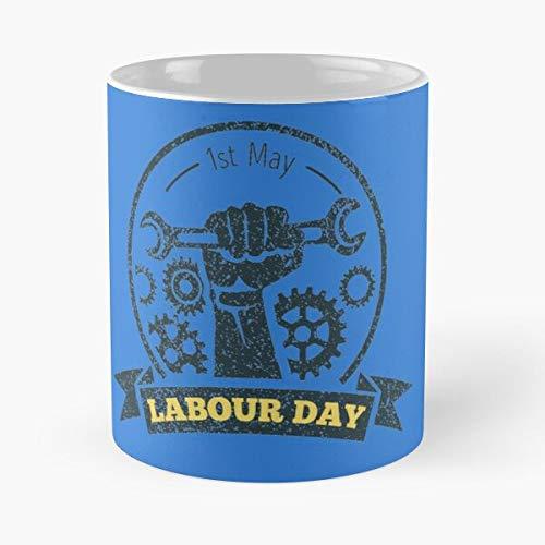Taza de café de cerámica con texto en inglés 'Happy Labor Dad' con texto en inglés 'Happy Labor Dad' para Navidad, divertido Día de los padres mejor de 315 ml