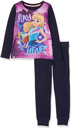 LEGO Mädchen Girl Friends CM-73137 Pyjama Zweiteiliger Schlafanzug, Mehrfarbig (Dark Navy 590), 104