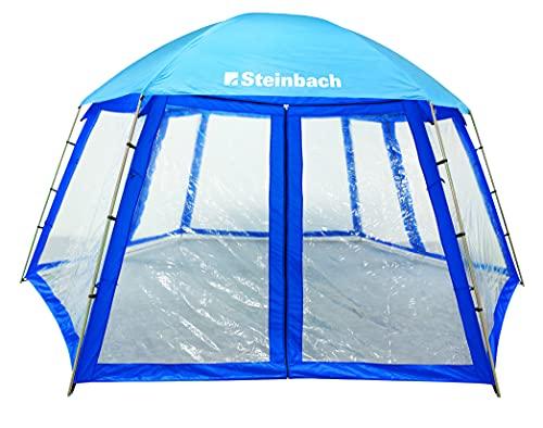 Steinbach 36425 Toiture de Piscine en matière Hydrofuge avec fenêtre 600 x 520 x 280 cm