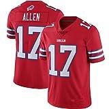 Color Poliéster Rendimiento Principal jugador Nombre y Número Jersey Camiseta para Bill's Niños Wear #17 Allen rojo-S