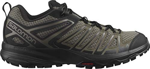 Salomon mens X Crest Hiking Shoe, Bungee Cord/Black/Peat, 10 US