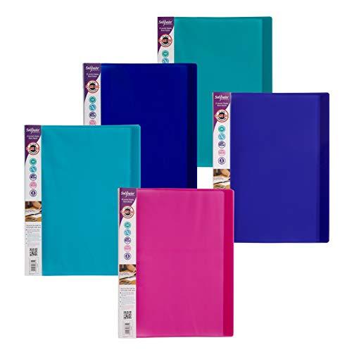 Snopake A4 Sichtbuch (mit je 24 Klarsichthüllen) 10 Stück verschiedene Electra-Farben