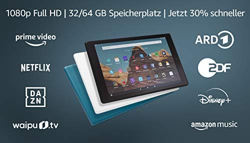 FireHD10-Tablet│10,1Zoll großes FullHD-Display (1080p), 32 GB, Dunkelblau, Mit Werbung (vorherige Generation – 9.)