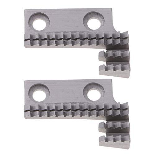 perfk Paquete de 2 Piezas de Máquina de Coser para Accesorios de Alimentación # 97625 para Singer, Mitsubishi, Industrial, Acero