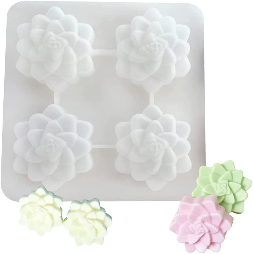 Montidey 4 Cavity Flower Silicone Handmade Mold Max 41% OFF Soap Can store Plaster