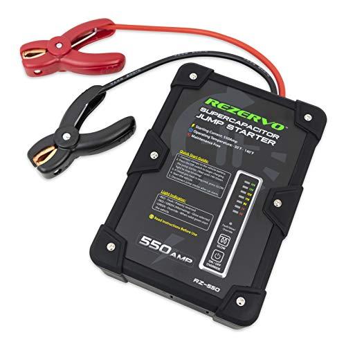Rezervo Batteryless Jump Starter - Jumpstarts Vehicles Using Ultracapacitor Technology for Cars,...