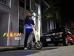 Flash-Belt unisex multi color LED Fashion & Sports belt, 4-5Hr use