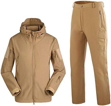 BGTEEVER Outdoor Camping Waterproof Windproof Polyester Coats Jacket Hoody Jacket+Pants