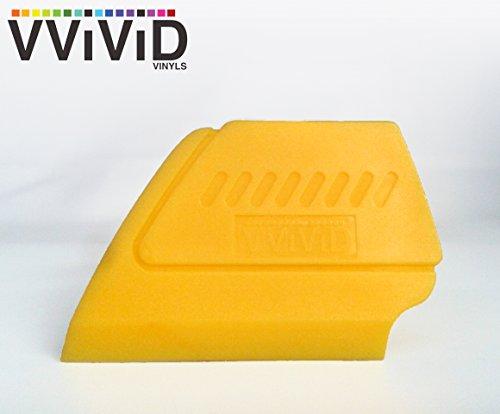 VViViD Yellow Fine-Edge Detailer Hand Tool for Vinyl Wraps & Decals Squeegee Applicator 2 Inch Contour Miniature Sealer (Single)