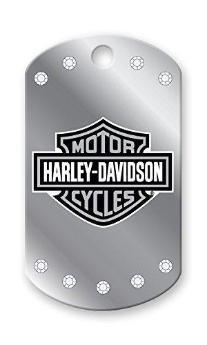 Harley Davidson Chrome Stones Military Pet I.D. Tag