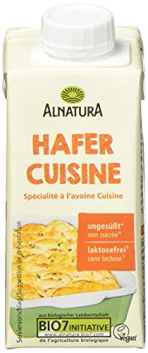 Alnatura Bio Hafercreme Cuisine, vegan, laktosefrei, 15er Pack (15 x 200 ml)
