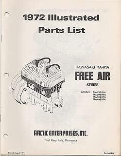 1972 ARCTIC CAT SNOWMOBILE ENGINE KAWASAKI T1A-R1A FREE AIR PARTS MANUAL (259)