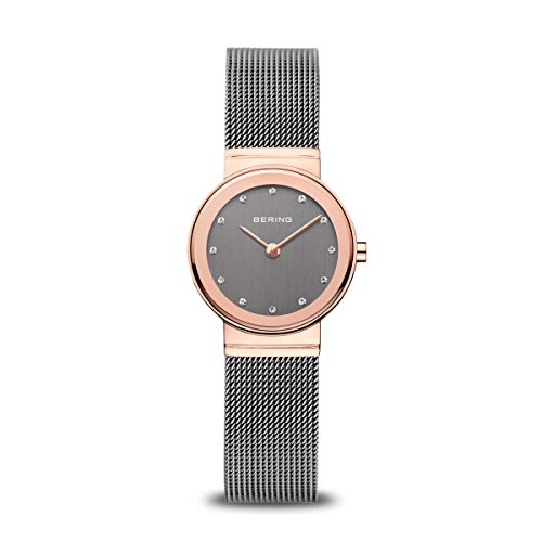 BERING Damen Analog Quarz Classic Collection Armbanduhr mit Edelstahl Armband und Saphirglas 10126-369