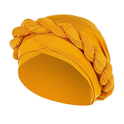 Bonnet Femme Inde Chapeau Musulman Respirant Turban ÉLastique Mode Vintage Bonnet Echarpe Chaud pour Chute de Cheveux, Cancer