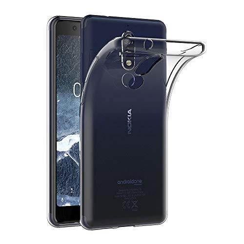AICEK Hülle Compatible für Nokia 5.1 Transparent Silikon Schutzhülle für Nokia 5.1 Case Clear Durchsichtige TPU Bumper Nokia 5.1 Handyhülle (5,5 Zoll)
