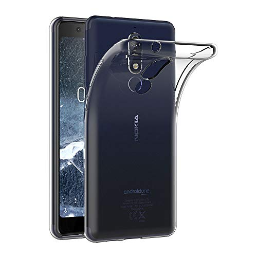 AICEK Cover Nokia 5.1, Cover Nokia 5.1 Silicone Case Molle di TPU Trasparente Sottile Custodia per Nokia 5.1 (5.5 Pollici)