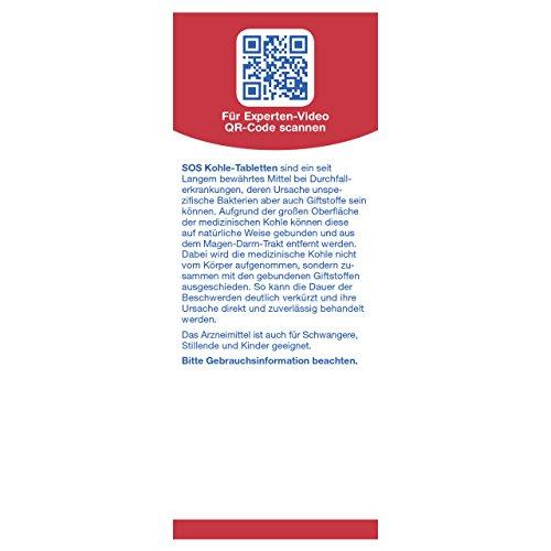 SOS Kohletabletten bei Durchfall, Nahrungsmittelvergiftung für Schwangere und Kinder geeignet (2er Pack) - 2